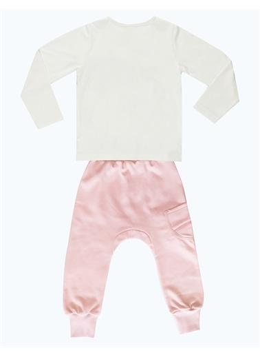 Mushi Hip-Hop Kız Pembe Eşofman Altı+T-Shirt Renkli